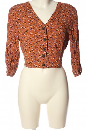 Bershka Leather Blouse allover print casual look