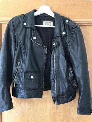 Bershka Leather Jacket black