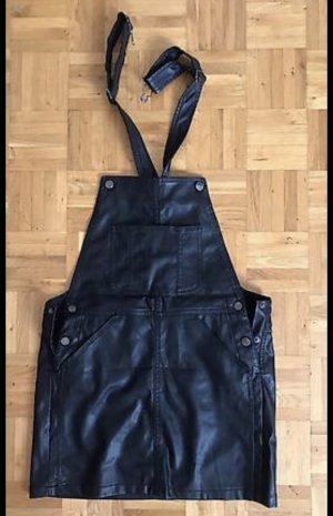 Bershka Vestito in pelle nero