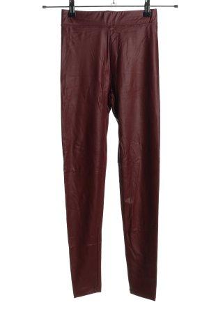 Bershka Leggings rosso stile casual