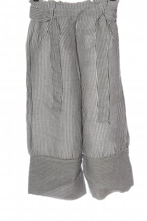 Bershka Pantalone di lino grigio chiaro motivo a righe stile casual