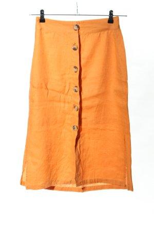 Bershka Falda de lino naranja claro look casual