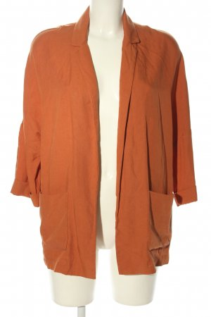 Bershka Long-Blazer hellorange Casual-Look