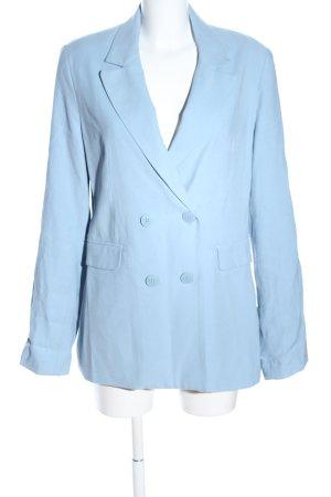 Bershka Long-Blazer blau Business-Look
