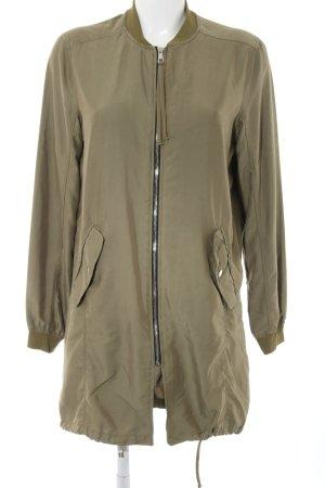 Bershka Lange blazer khaki casual uitstraling