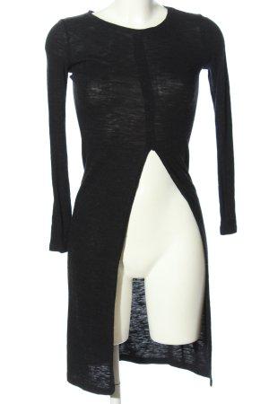 Bershka Longshirt schwarz Casual-Look