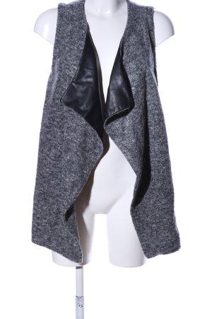 Bershka Cardigan lungo smanicato grigio chiaro puntinato stile casual