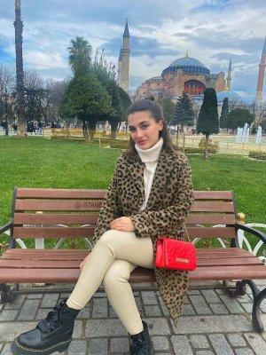 Bershka Abrigo de lana negro-marrón claro