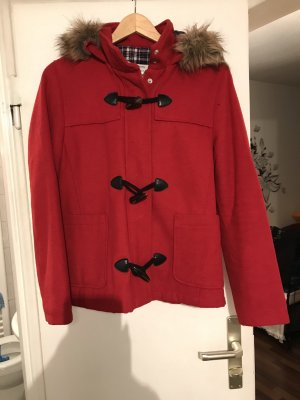Bershka Hooded Coat red