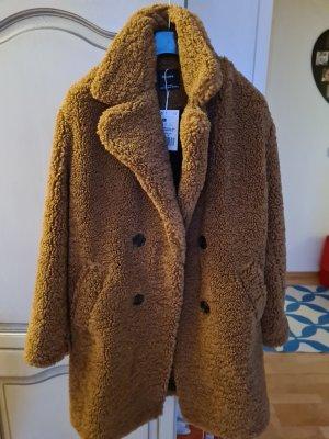 Bershka Płaszcz zimowy brązowy