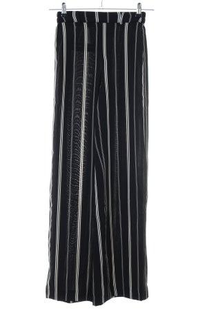 Bershka Marlenehose schwarz-weiß Streifenmuster Casual-Look