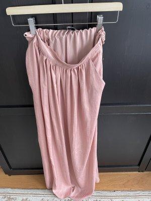 Bershka Maxi rok stoffig roze