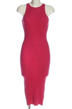 Bershka Midikleid pink Casual-Look