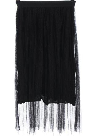 Bershka Spódnica midi czarny Imprezowy wygląd