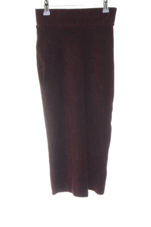 Bershka Spódnica midi purpurowy