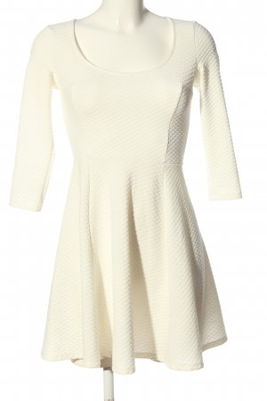 Bershka Minikleid weiß Casual-Look