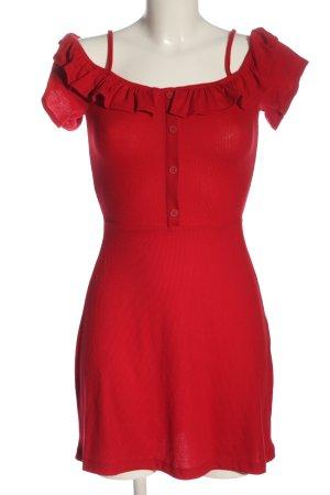 Bershka Mini Abito rosso stile casual
