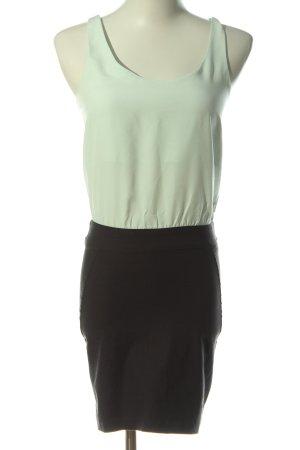 Bershka Robe courte turquoise-noir style décontracté