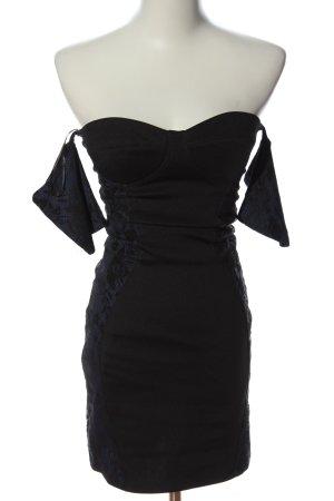 Bershka Sukienka mini czarny-niebieski Elegancki