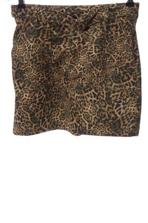 Bershka Mini rok bruin volledige print casual uitstraling