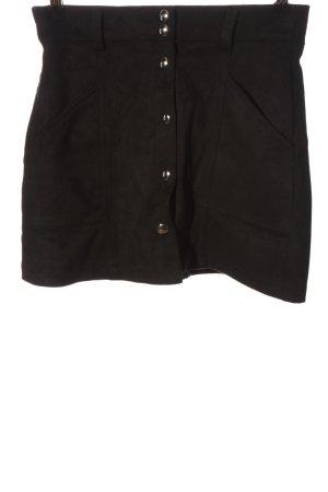 Bershka Mini rok zwart casual uitstraling