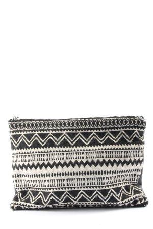 Bershka Minitasche schwarz-weiß grafisches Muster Casual-Look