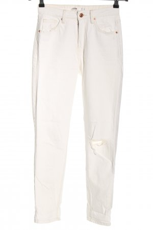 Bershka Mom-Jeans creme Casual-Look