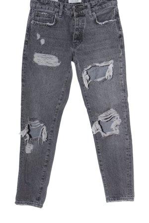Bershka Mom-Jeans hellgrau Casual-Look