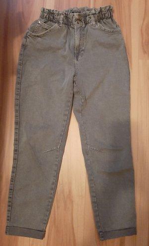 Bershka High Waist Jeans grey