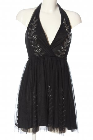 Bershka Robe dos-nu noir élégant