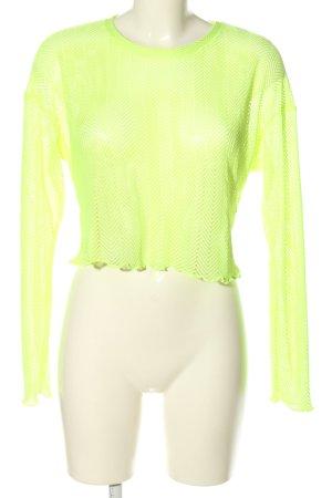 Bershka Netshirt groen casual uitstraling
