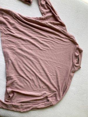 Bershka Maglia a collo alto color oro rosa