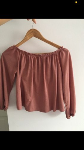 Bershka Camisa tipo Carmen multicolor