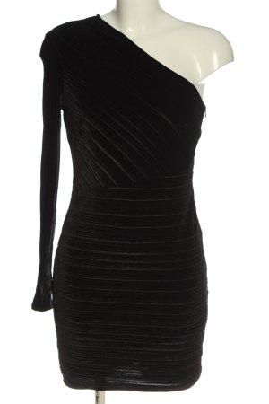 Bershka Sukienka na jedno ramię czarny Elegancki