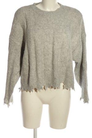 Bershka Oversized Pullover wollweiß Casual-Look