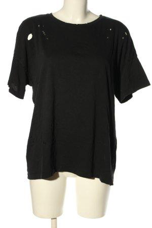 Bershka Oversized Shirt schwarz Casual-Look