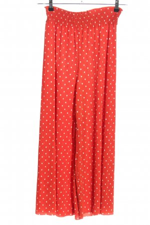 Bershka Palazzo Pants red-white allover print casual look