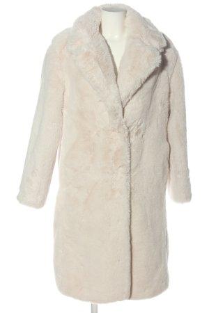 Bershka Abrigo de piel blanco puro look casual