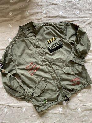Bershka Oversized Jacket dark green