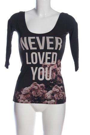 Bershka Shirt met print bloemenprint casual uitstraling