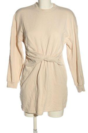 Bershka Swetrowa sukienka kremowy W stylu casual