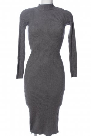 Bershka Sweater Dress light grey striped pattern casual look