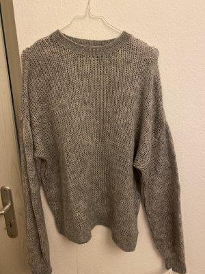 Bershka Jersey de ganchillo gris claro