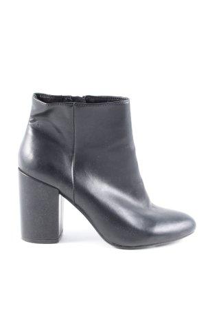 Bershka Reißverschluss-Stiefeletten schwarz Elegant