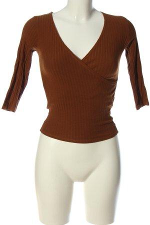 Bershka Chemise côtelée brun style décontracté
