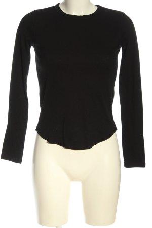 Bershka Ribbed Shirt black casual look