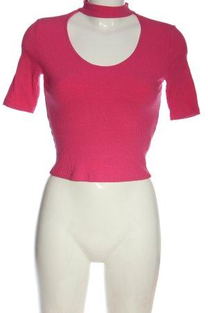Bershka Rippshirt pink Casual-Look
