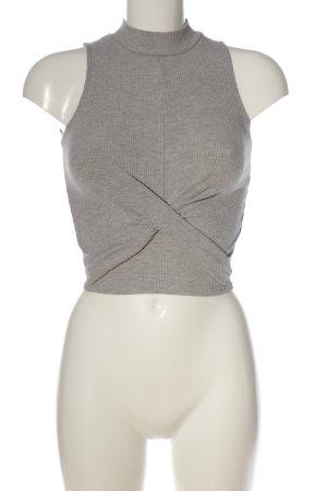 Bershka Chemise côtelée gris clair motif rayé style décontracté