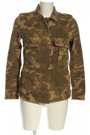 Bershka Ripstop Jacket bronze-colored-gold-colored camouflage pattern