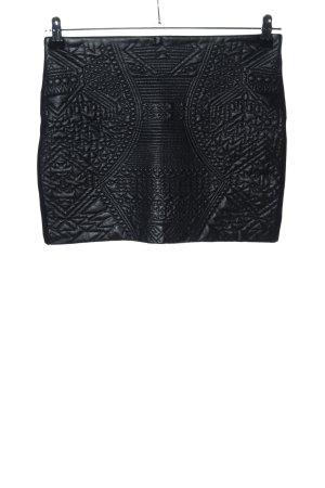 Bershka Spódnica z imitacji skóry czarny Ekstrawagancki styl